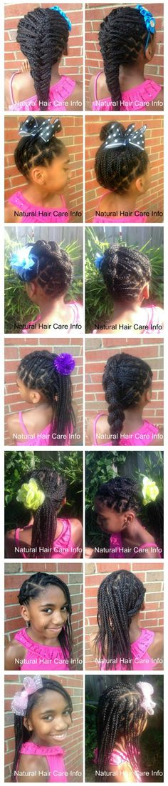 66 Trendy Ideas For Braids For Girls Kids Girly - All For New Hairstyles Messy Bob Hairstyles, Natural Hairstyles For Kids, Little Girl Hairstyles, Kids Hairstyle, Kids Box Braids, Girls Braids, Children Braids, Curly Hair Styles, Natural Hair Styles