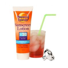 Fake Sunscreen Flask With Funnel (and includes a stainless steel flask too!!) $7.99 and ships free