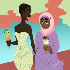 Yagazie Emezi - mistercoventry: Lesbians and ice cream Lesbian Art, Lesbian Pride, Lesbian Love, Gay Art, Lesbian Couples, Fit Couples, Black Lesbians, Lgbt Rights, Human Rights