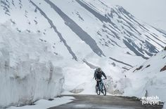 That's me riding on crazy roads .. Finding someone to help to take a photo at 17000 feet is luck and I was lucky too. With friend of mine both end crazy with cold on this icy highway during very early season ride it was just two days of Leh - Manali highway declared open and we decided to go just like we decide to go for movie. . Most of my personal adventures are just crazy. I love surprises and specially on these kind of roads. I must have made countless trips on this roads and now forgot…