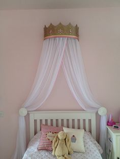 The princess crown and bed canopy I made for Maddie's bedroom