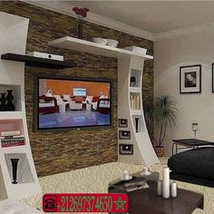 platre de mur ديكورات الجدران والتلفاز - اشغال الجبس والديكور المنزلي Modern Tv Unit Designs, Modern Tv Wall Units, Living Room Tv Unit Designs, Bedroom Wall Designs, Ceiling Design Living Room, Bedroom False Ceiling Design, Wardrobe Design Bedroom, Bedroom Furniture Design, Kitchen Room Design