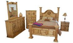 Big Sky Bedroom Set - Rustic - King Queen Western Real Wood Furniture Free S/H