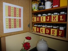 An excellent way to organize spices at orgjunkie.com