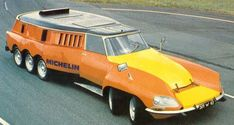 """1972 Citroen DS """"Michelin PLR"""" was a Tire Evaluation Test Car - Some Time Called the """"Mille Pattes"""", the French Word for Centipede, Citroen Ds, Strange Cars, Weird Cars, Crazy Cars, Supercars, Unique Cars, Car Wheels, Car Humor, Amazing Cars"""