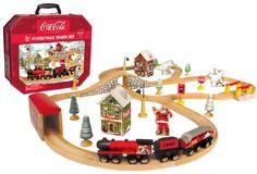 Coca Cola Christmas Train Set by Maxim...Jace  would looooove this!