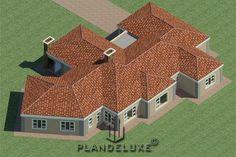 5 Bedroom Single Story House floor Plan Design_Plandeluxe__1 story house design_03