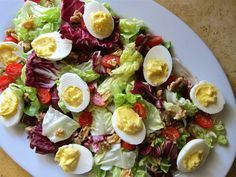 Egg and Arugula Salad Egg Recipes, Great Recipes, Salad Recipes, Healthy Salads, Healthy Recipes, Deviled Egg Salad, Olive Garden, Tasty, Yummy Food