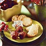 Cranberry Meatballs Recipe | MyRecipes.com Christmas Party Apps