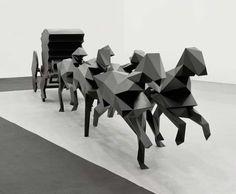 The Carriage(2010), a sculpture by artist Xavier Vielhan