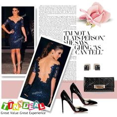 the blue dress by walkthisland on Polyvore featuring tinydeal