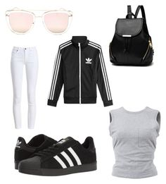 """""""Untitled #1"""" by maren-juli on Polyvore featuring adidas, Barbour, T By Alexander Wang, Quay and adidas Originals"""