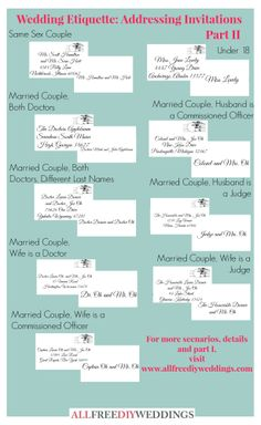 Wedding Invitation Etiquette How to Address Wedding Invitations