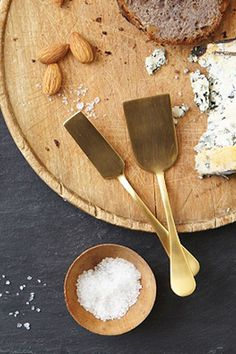 gold cheese knives from west elm | Camille Styles
