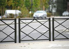 VALLA ROMBO  Clásica y elegante, se adapta a todo tipo de mobiliario urbano. Longitud: 1500 mm. Acero pintado sobre zinc según nuestros colores RAL. #valla #fence #acero #pintado