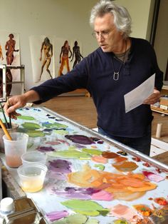 ✿ Eric Fischl in his studio. ✿