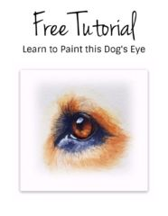 Free Tutorial Dog Eye Rebecca Rhodes