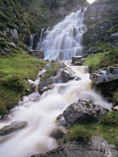 size: Photographic Print: Waterfall Near Uig, Isle of Lewis Poster by Lee Frost : Artists Isle Of Man, Isle Of Harris, Outer Hebrides, Mountain Landscape, Landscape Photographers, Worlds Largest, United Kingdom, Scotland, Poster