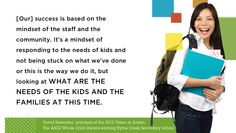 David Rawnsley, principal of the 2012 Vision in Action: The ASCD Whole Child Award-winning Byrne Creek Secondary School