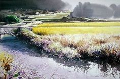 Watercolor by Shie Joog Sik>>I don't know if this level of skill is inspiring or discouraging... :-)
