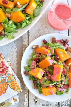 Reasons to Love Arugula: Arugula and Date Salad with Roasted Butternut Squash and Cranberries