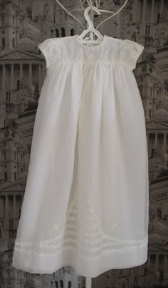 Vintage 40s Christening Dress Gown Baptism Dress by WillowsRoom, £23.00
