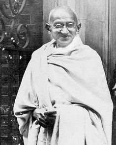 """GANDHI. My hero & inspiration. Let me think how to apply this in my own life! """"This is the way of Satyagrahare ... to put your head unresistingly into the lap of your 'enemy', for him to keep or make short work of you as he pleases. It is the sovereign way and throughout my half a century of varied experience, it has never once failed me."""""""