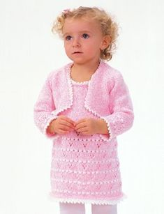 Girls crochet shrug sweater crochet knitting pinterest party girl set in bernat softee baby solids fandeluxe Gallery