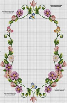 Cross Stitch Borders, Cross Stitch Rose, Cross Stitch Flowers, Cross Stitch Charts, Cross Stitch Designs, Cross Stitching, Cross Stitch Patterns, Needlepoint Patterns, Embroidery Patterns
