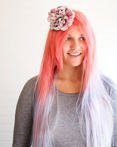 Colorful Dyed Wigs - http://www.sweetpaulmag.com/crafts/colorful-dyed-wigs #sweetpaul