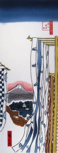 TOKYO TENUGUI WORKSHOP - HIROSHIGE UTAGAWA / Ukiyoe / Tradition   Japanese Gifts TENUGUI online shop - wuhaonyc