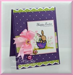 stampin up everybunny stamp set, card by sandi maciver