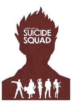 Suicide Squad - minimal movie poster - Lewis Dowsett