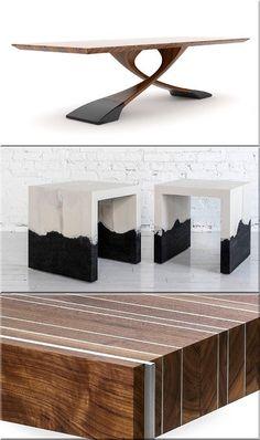 design bútorok, modern asztal Wabi Sabi, Rustic Furniture, Table, Vintage, Design, Home Decor, Home Decoration, Decoration Home, Room Decor