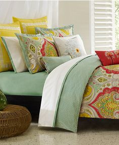 Echo Jaipur Comforter and Duvet Cover Sets - Bedding Collections - Bed & Bath - Macy's; Another beautiful bed!