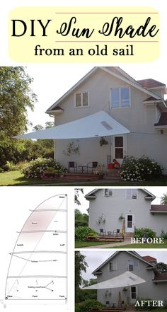 Upcycled Sun Shade from an Old Sail