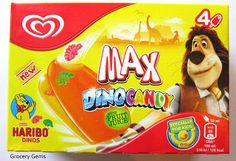 Max Dino Candy Haribo Ice Lollies