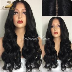 76.32$  Buy now - http://alixvm.worldwells.pw/go.php?t=32781265601 - Full Lace Human Hair Wigs For Black Women Front Lace Wigs Body Wave Glueless Lace Front Human Hair Wigs Peruvian Wavy Wig 76.32$