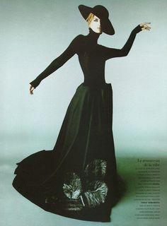 1995-96 - Yohji Yamamoto dress in  Vogue Paris
