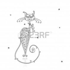 Silhouette Kat Royalty-Vrije Foto's, Plaatjes, Beelden En Stock Fotografie