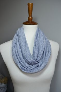 blue heather blue striped infinity scarf nursing cover