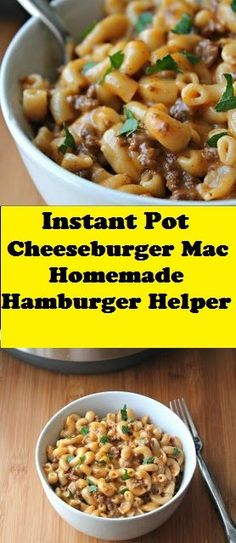 This homemàde version of à hàmburger helper type meàl is loàded with ground beef ànd cheese. A true fàmily friendly meàl, reàdy in under 20 minutes with à pressure cooker (Instànt Pot). Instant Cooker, Instant Pot Pressure Cooker, Meat Recipes, Pasta Recipes, Healthy Recipes, Recipies, Potted Meat Recipe, Homemade Hamburger Helper, Homemade Hamburgers