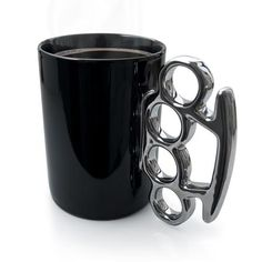 Thabto Knuckle Duster Mug, Black & Silver