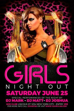 Free Ladies Night Flyer Template - http://freepsdflyer.com/free-ladies-night-flyer-template/ Free Ladies Night Flyer Template – Super easy to edit, well organized in folders with names, you can easily change texts, Colors, Add/Remove elements to this layered PSD.  #Beach, #Club, #Dj, #Drinks, #EDM, #Electro, #Ladies, #Lounge, #Minimal, #Night, #Nightclub, #Party, #Techno, #Urban