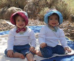 handmade gorgeous reversible toddler bonnets from Bella Sol Bebe
