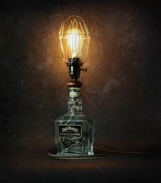 """31 Gostos, 1 Comentários - Make a Lamp You Love (@ilikethatlamp) no Instagram: """"Bottle lamps are all kinds of pretty. Visit our blog today for 12 @jackdaniels_us bottle lamps to…"""""""