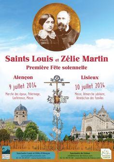 Première Fête Solennelle des Saints Louis et Zélie Martin / Sanctuaire de Lisieux 9th to 12th July - Feast of Saints Louis and Zélie Martin http://www.therese-de-lisieux.catholique.fr/Program-2016.html