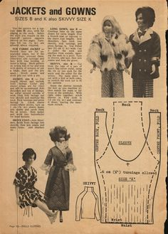 Enid Gilchrist's Dolls Clothes - Barbie & Ken coat pictures and turtleneck sweater pattern