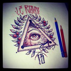 Eye tattoo design fonts 67 Ideas for 2019 Tattoo Sketches, Tattoo Drawings, All Seeing Eye Tattoo, Tattoo Addiction, Tattoo Stencils, Tattoo Fonts, Tattoo Quotes, Traditional Tattoo Flash, Tattoo Portfolio