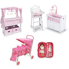 walmart+dolls | Badger Basket Baby Doll Accessory Value Bundle: Dolls & Dollhouses ...